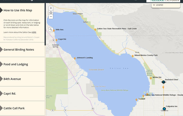 New online map for birding the Salton Sea