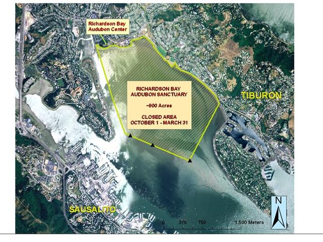 Richardson Bay Annual closure protects important migratory bird species