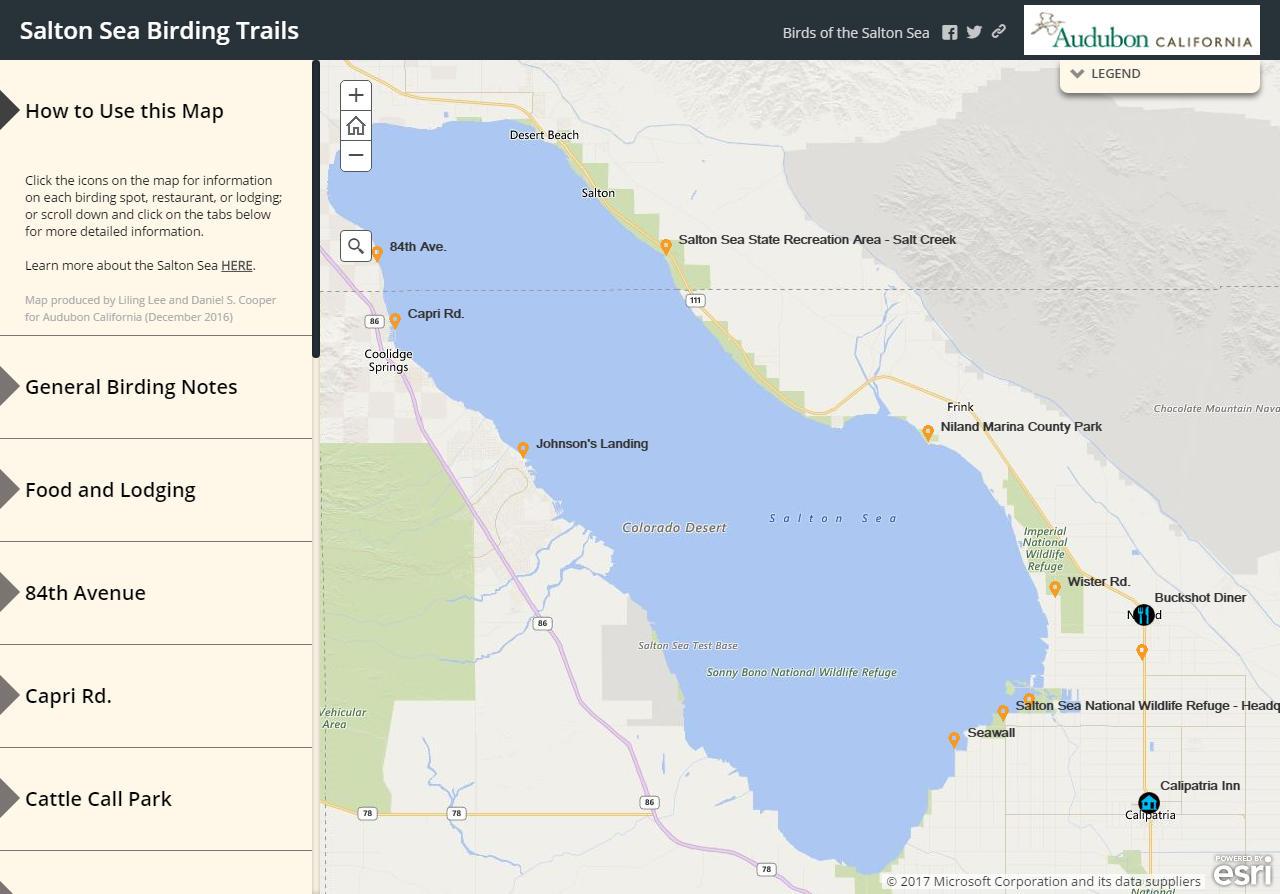 New online map for birding the Salton Sea Audubon California