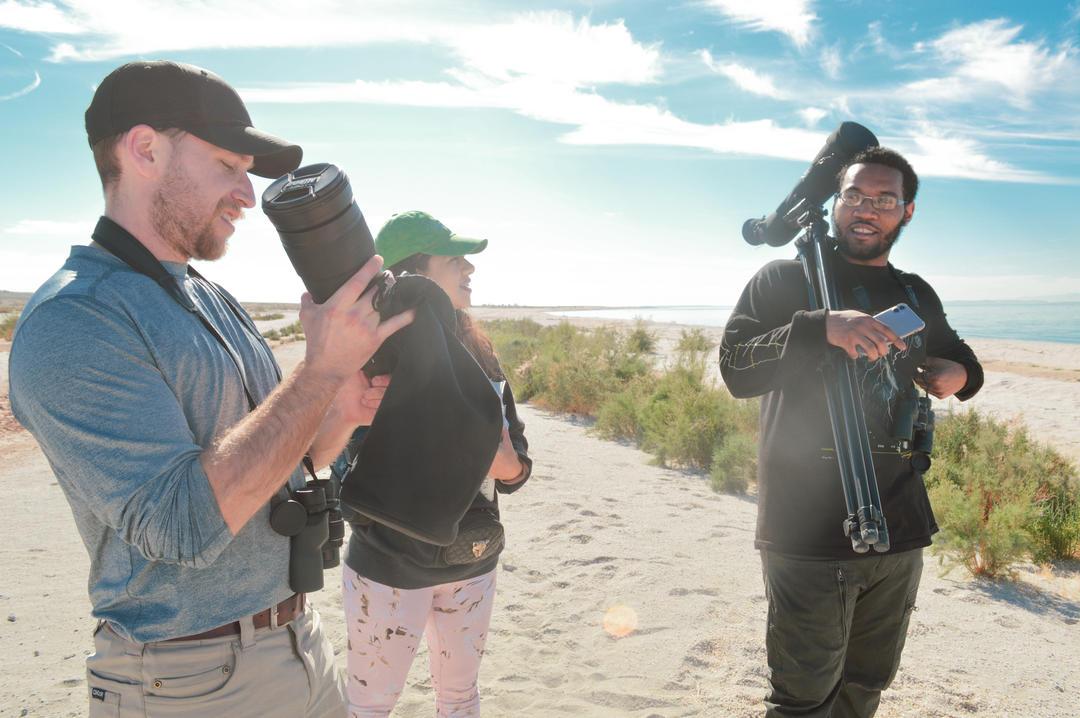 Ray Sessley at the Salton Sea